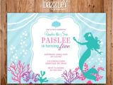 Mermaid Birthday Invitations Free Printable Printable Mermaid Birthday Invitation Under the Sea