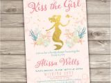 Mermaid Bridal Shower Invitations Rose Gold Bridal Shower Mermaid Invitations Shabby Chic Little