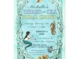 Mermaid Bridal Shower Invitations Under the Sea Mermaid Bridal Shower Invitation
