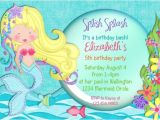 Mermaid Pool Party Invitation Wording Pretty Mermaid Birthday Party Invitation Fish Under the