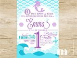 Mermaid themed Party Invitations Mermaid Birthday Party Invitation Little Mermaid Birthday