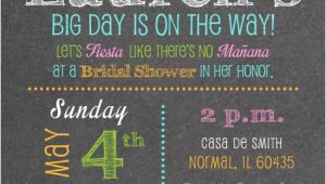 Mexican themed Bridal Shower Invitations Mexican Fiesta Bridal Shower Invitations