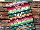 Mexican themed Graduation Party Invitations Fiesta Graduation Party Uno 1st 21 Birthday Serape Blanket