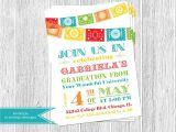 Mexican themed Graduation Party Invitations Graduation Fiesta Invitation Papel Picado Bunting 16