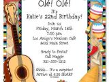 Mexican themed Party Invitations Mexican Fiesta Invitations