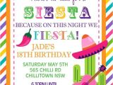 Mexican themed Party Invitations Personalised Personalized Mexican theme Siesta Fiesta