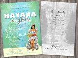 Miami themed Party Invitations Havana Nights Shower Invitation Cuban Havana Miami Shower