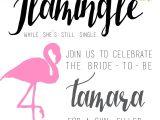 Miami themed Party Invitations Let 39 S Flamingle Flamingo theme Bachelorette Invitations