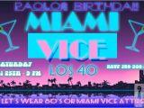 Miami themed Party Invitations Miami Vice Party Invitation Miami Vice Party Pinterest