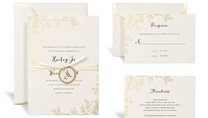 Michaels Wedding Invitation Template Shop for the Floral Gold Wedding Invitation Kit by