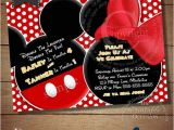 Mickey and Minnie Joint Birthday Party Invitations Huge Selection Mickey Mouse Invitation for Twins Minnie