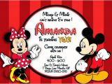 Mickey and Minnie Joint Birthday Party Invitations Mickey and Minnie Mouse Birthday Invitations Bagvania
