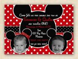 Mickey and Minnie Joint Birthday Party Invitations Mickey and Minnie Mouse Twin Birthday Party Invitation