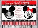 Mickey and Minnie Joint Birthday Party Invitations Minnie Mouse Printable Birthday Invitations Drevio