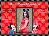Mickey and Minnie Mouse Baby Shower Invitations How to Make Minnie Mouse Baby Shower Invitations