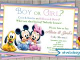 Mickey and Minnie Mouse Baby Shower Invitations June 2014