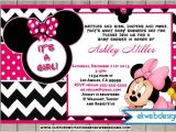 Mickey and Minnie Mouse Baby Shower Invitations Minnie Mouse Baby Shower Invitations with Lovely Pink