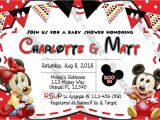 Mickey and Minnie Mouse Baby Shower Invitations Novel Concept Designs Baby Mickey & Minnie Mouse Baby