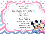 Mickey and Minnie Mouse Baby Shower Invitations Twin Baby Shower Invitation Baby Minnie and Baby Mickey Boy