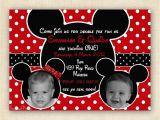 Mickey and Minnie Mouse Birthday Invitations for Twins Mickey and Minnie Mouse Twin Birthday Party Invitation