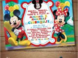 Mickey and Minnie Mouse Birthday Invitations for Twins You Choose Mickey Minnie Twins Birthday Invitation Twins