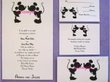 Mickey and Minnie Wedding Invitations 100 Personalized Custom Mickey and Minnie Disney Kissing