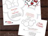 Mickey and Minnie Wedding Invitations Mickey and Minnie Custom Wedding Invitation by