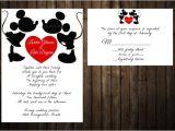 Mickey and Minnie Wedding Invitations Mickey and Minnie Wedding Invitation Disney by