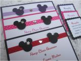Mickey and Minnie Wedding Invitations Mickey and Minnie Wedding or Bridal Shower Invitation and