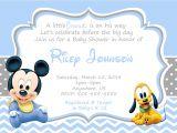 Mickey Baby Shower Invitations Baby Mickey Mouse Baby Shower Invitations