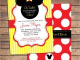 Mickey Baby Shower Invitations Mickey Mouse Baby Shower Invitation Printable Baby Boy or
