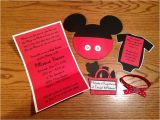 Mickey Baby Shower Invitations Mickey Mouse Baby Shower Invitations