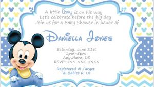 Mickey Baby Shower Invitations Mickey Mouse Invitation Templates – 26 Free Psd Vector