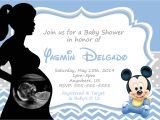Mickey Mouse Baby Shower Invitations for A Boy Blank Mickey Mouse Baby Shower Invitations