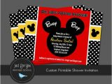 Mickey Mouse Baby Shower Invitations for A Boy Mickey Mouse Inspired Baby Shower Invitation by