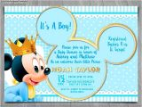 Mickey Mouse Baby Shower Invitations Walmart Mickey Baby Shower Invitations Cobypic