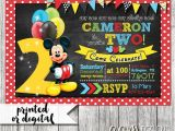 Mickey Mouse Birthday Invitation Template 31 Mickey Mouse Invitation Templates Free Sample