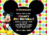 Mickey Mouse Birthday Invitation Template Birthday Invitation Mickey Mouse