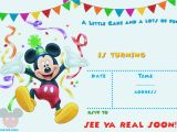 Mickey Mouse Birthday Invitation Template Free Mickey Mouse 1st Birthday Invitations Bagvania Free
