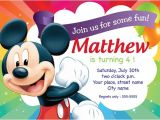 Mickey Mouse Birthday Invitation Template Mickey Mouse Birthday Invitation Card Printable Template