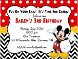 Mickey Mouse Birthday Invitation Template Mickey Mouse Invitation Templates 29 Free Psd Vector