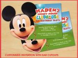 Mickey Mouse Clubhouse Custom Birthday Invitations Mickey Mouse Clubhouse Birthday Invitations Custom On