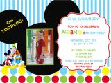 Mickey Mouse Clubhouse Custom Birthday Invitations Mickey Mouse Clubhouse Birthday Party Invitation