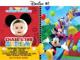 Mickey Mouse Clubhouse Custom Birthday Invitations Mickey Mouse Clubhouse Birthday Party Invitations