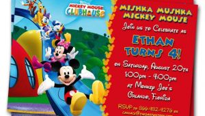 Mickey Mouse Clubhouse Custom Birthday Invitations Mickey Mouse Clubhouse Invitations Printable Personalized