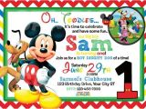 Mickey Mouse Clubhouse Party Invitations Free Template Free Printable Mickey Mouse 1st Birthday Invitations