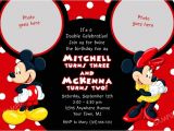 Mickey Mouse Clubhouse Party Invitations Free Template Mickey and Minnie Invitations Template Resume Builder