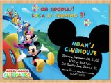 Mickey Mouse Clubhouse Party Invitations Free Template Mickey Mouse Clubhouse Invitations for Special Birthday