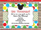 Mickey Mouse Clubhouse Party Invitations Free Template Mickey Mouse Party Invitations Template Birthday Party