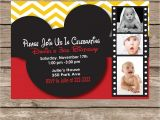 Mickey Mouse Customized Birthday Invitations Custom Mickey Mouse Birthday Invitations